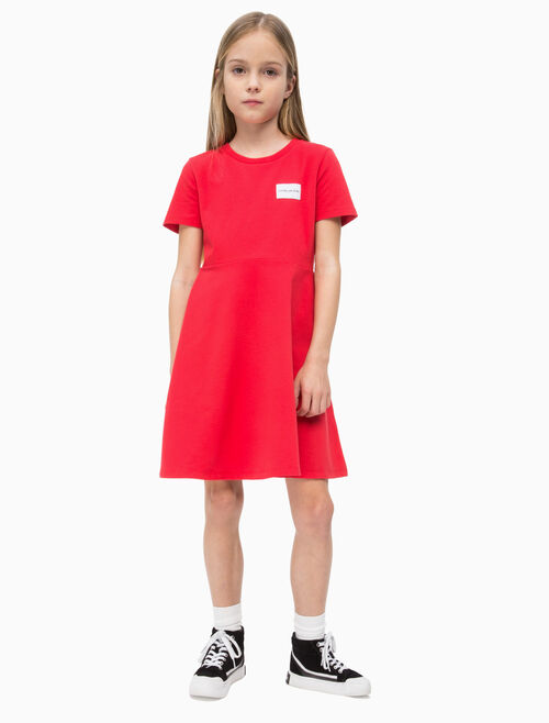 CALVIN KLEIN GIRLS BABY TERRY SKATER DRESS