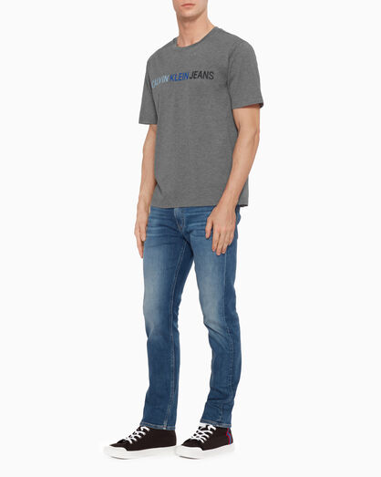 CALVIN KLEIN INSTITUTIONAL COTTON PIQUE LOGO TEE