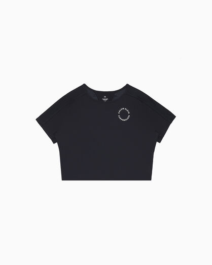 CALVIN KLEIN SPACE LINES CUT OUT TEE