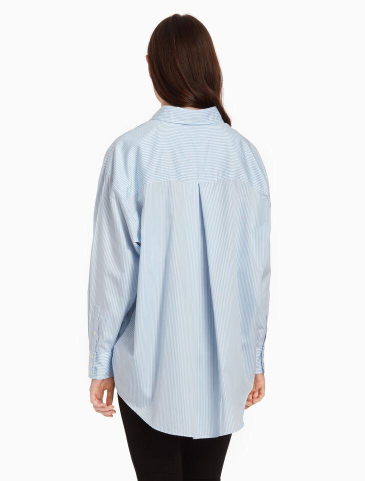CALVIN KLEIN RELAXED PINSTRIPE 셔츠