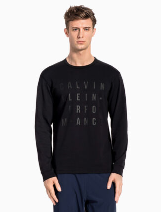 CALVIN KLEIN Logo Block Long Sleeve Tee