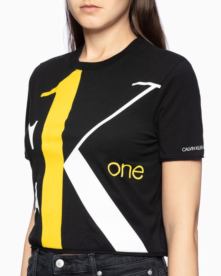 CALVIN KLEIN CK ONE BOLD LOGO CROPPED 티셔츠