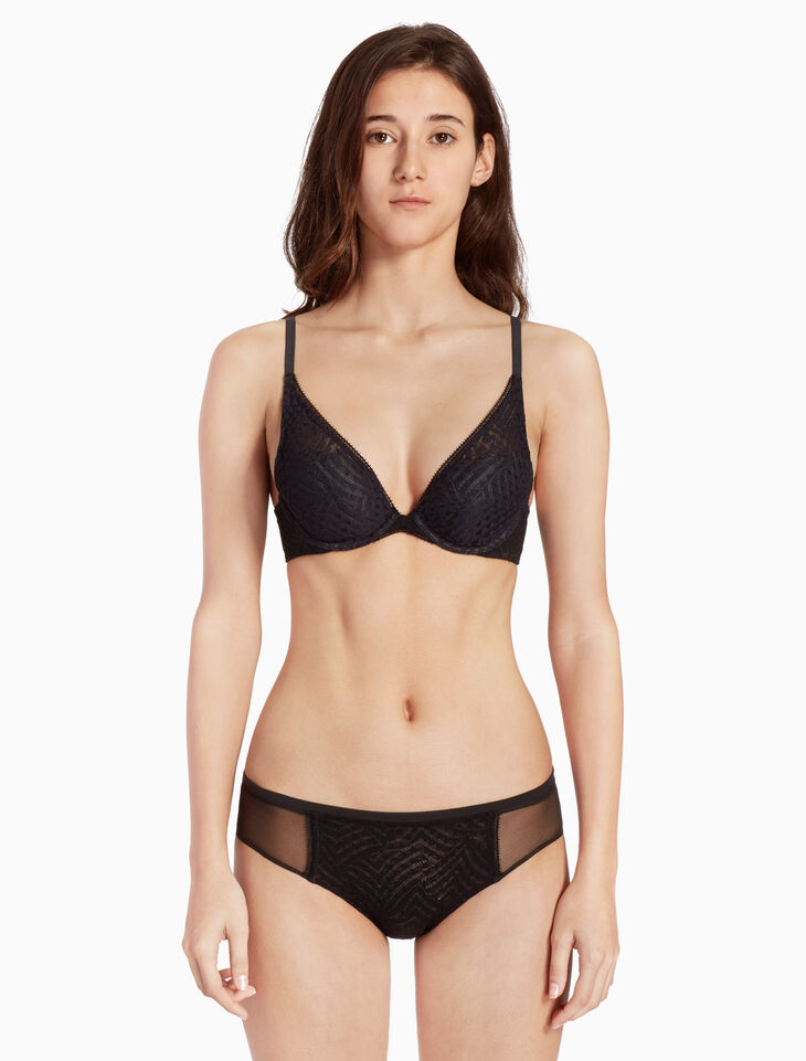 CALVIN KLEIN PERFECTLY FIT GEO LACE PLUNGE BRA