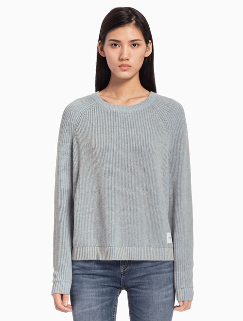 CALVIN KLEIN CREW NECK KNIT PULLOVER SWEATER