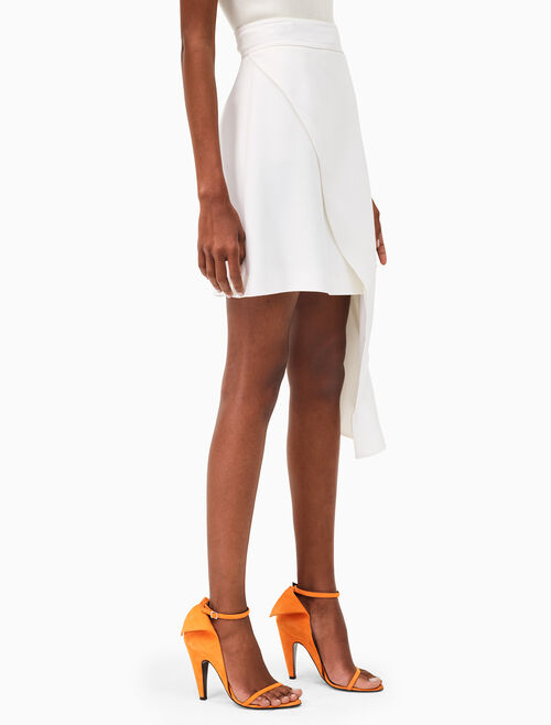 CALVIN KLEIN overlay drape mini skirt
