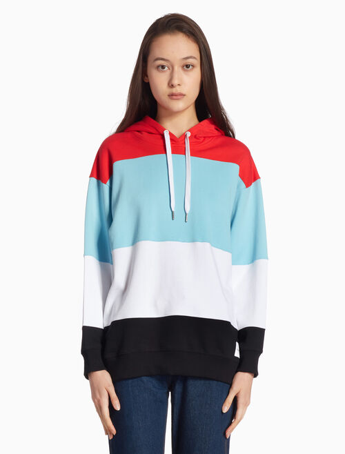 CALVIN KLEIN COLOR BLOCK 후드 스웨트셔츠