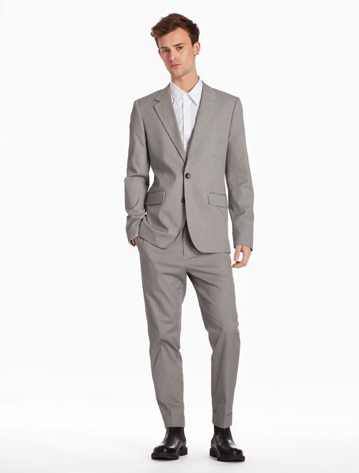 CALVIN KLEIN MICRO HOUNDSTOOTH SUIT JACKET