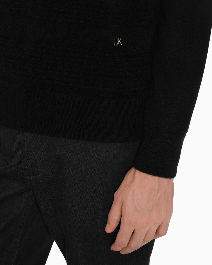 CALVIN KLEIN CASHMERE TEXTURED SWEATER