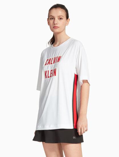 CALVIN KLEIN BOX LOGO MESH BACK 티셔츠