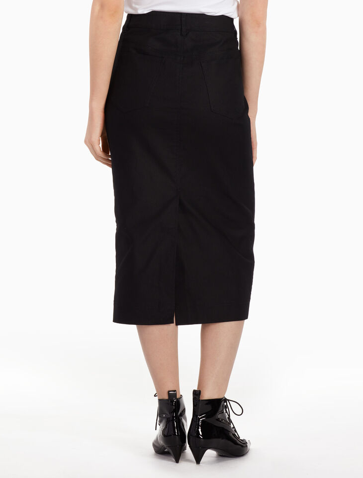 CALVIN KLEIN RIGID CORD DENIM SKIRT