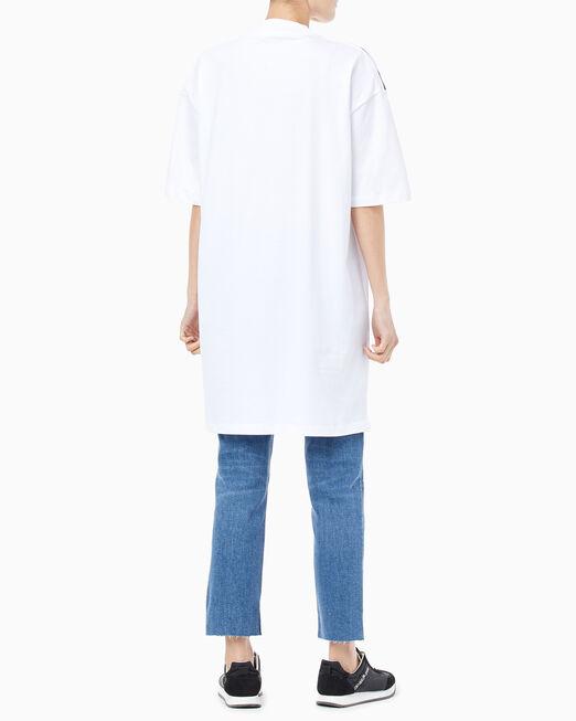 CALVIN KLEIN 여성 라지 CK 오버사이즈 반팔 티셔츠 드레스
