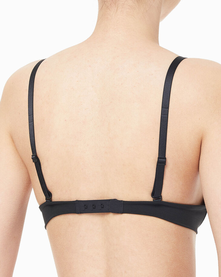 CALVIN KLEIN CK BLACK BARELINGS LIGHTLY LINED PLUNGE BRA