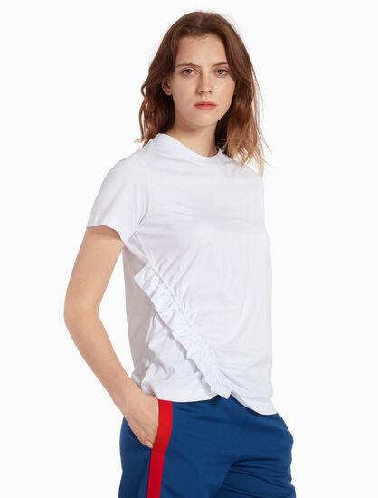 CALVIN KLEIN 저지 주름 티셔츠