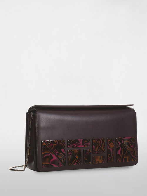 CALVIN KLEIN FLARED BOX CLUTCH WITH CHIPS
