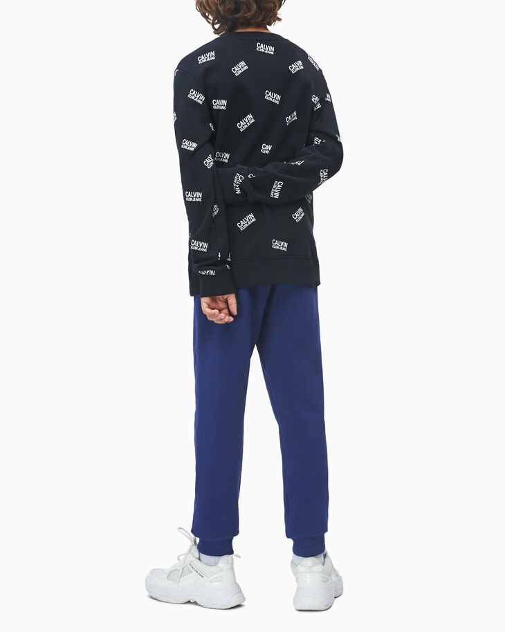 CALVIN KLEIN BOYS' ALL-OVER LOGO SWEATSHIRT