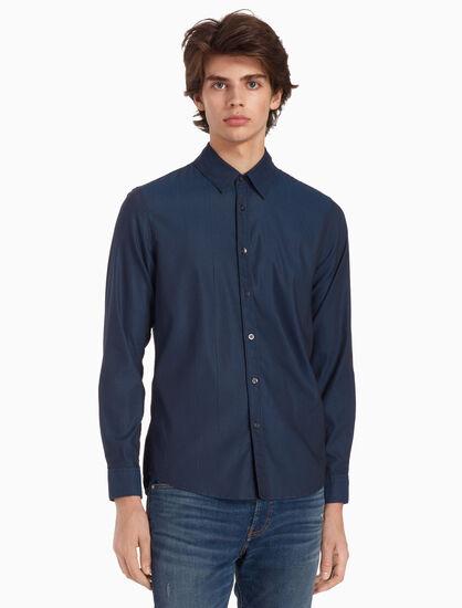CALVIN KLEIN 우븐 슬림 셔츠