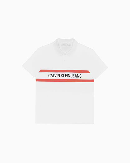 CALVIN KLEIN INSTITUTIONAL 條紋標誌 POLO 恤