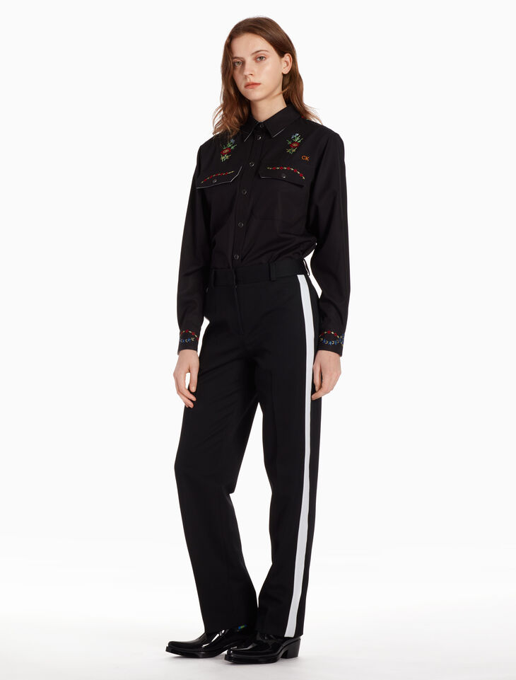 CALVIN KLEIN UNIFORM POLY PANTS