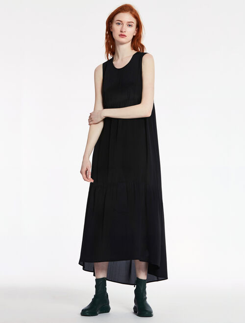 CALVIN KLEIN SHEER SILK CDC LONG DRESS