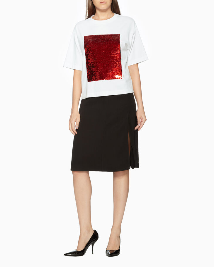 CALVIN KLEIN VISCOSE SIDE SPLIT SKIRT