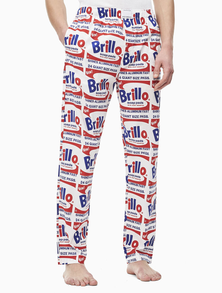 CALVIN KLEIN ANDY WARHOL PRINTED SLEEP PANTS