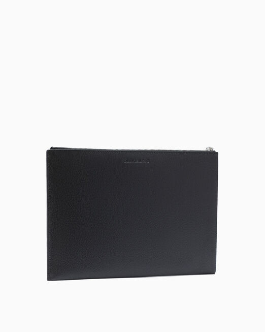 CALVIN KLEIN MONOGRAM TEXTURE MEDIUM TRAVEL POUCH