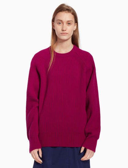 CALVIN KLEIN Chunky knit pullover sweater