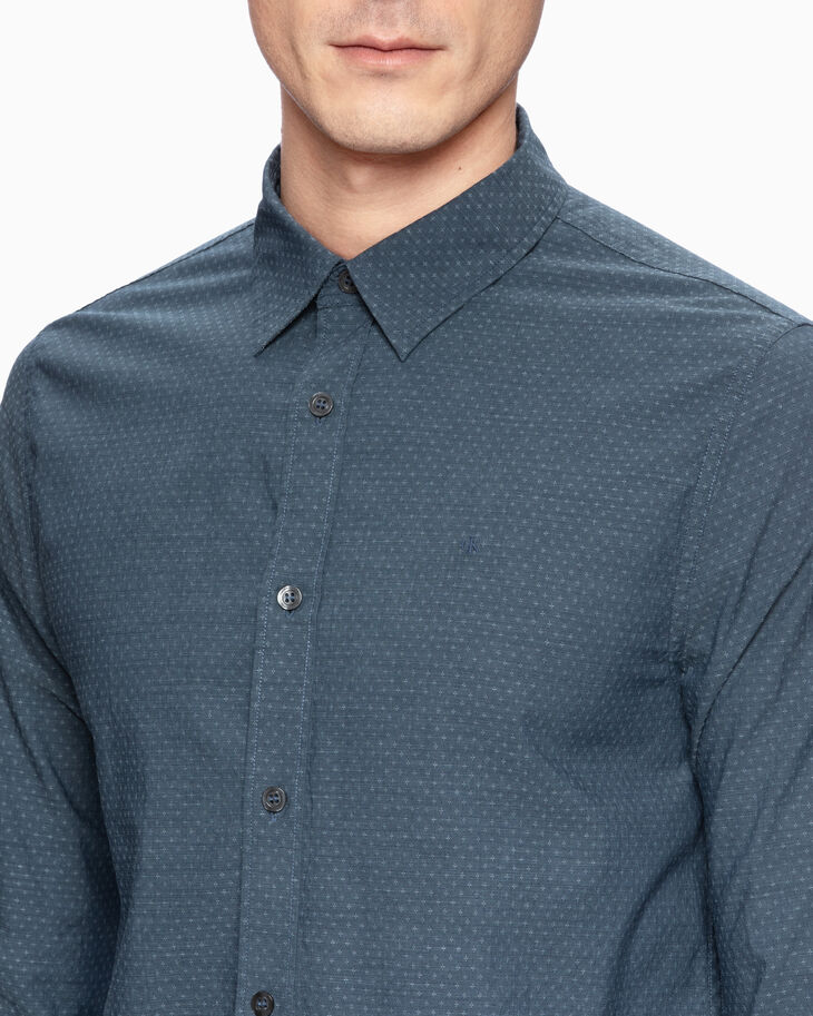 CALVIN KLEIN DOBBY STRETCH SLIM SHIRT