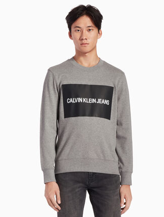CALVIN KLEIN CALVIN JEANS ロゴボックスインスティテューショナル スウェットシャツ