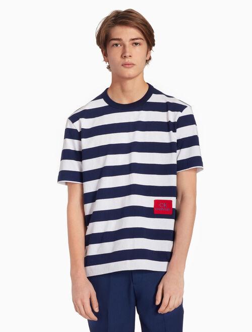 CALVIN KLEIN STRIPE ロゴ T シャツ