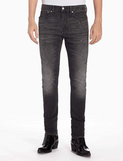 CALVIN KLEIN CKJ 016 MEN DISTRESSED スキニージーンズ