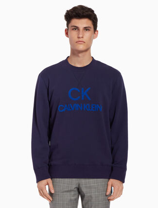 CALVIN KLEIN French terry logo sweatshirt