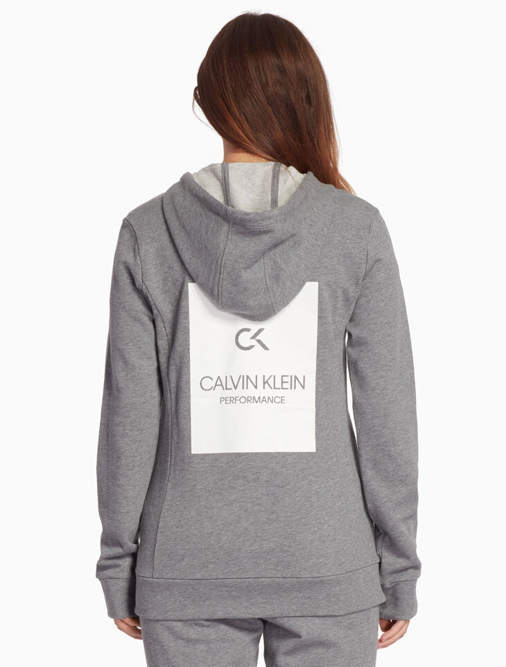 CALVIN KLEIN BILLBOARD HOODED SWEAT JACKET