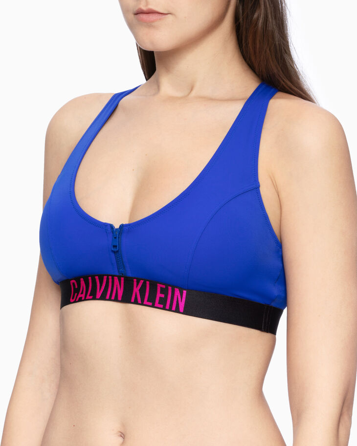 CALVIN KLEIN INTENSE POWER ZIP UP BRALETTE