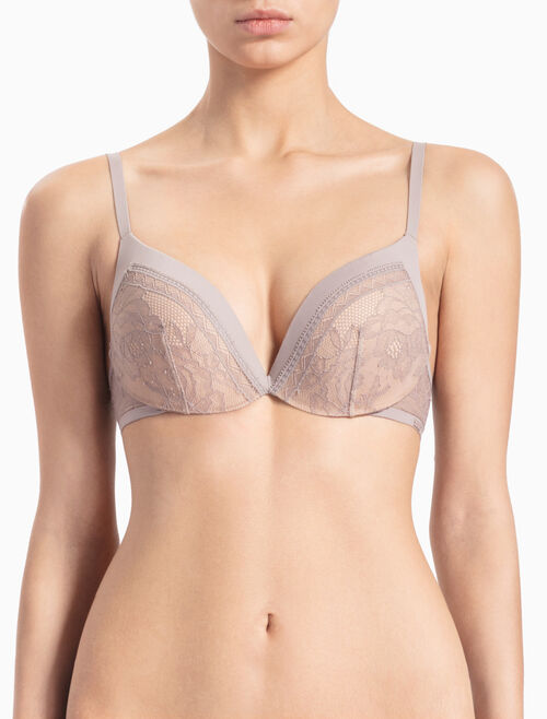 CALVIN KLEIN CK BLACK OBSESS PUSH UP PLUNGE BRA