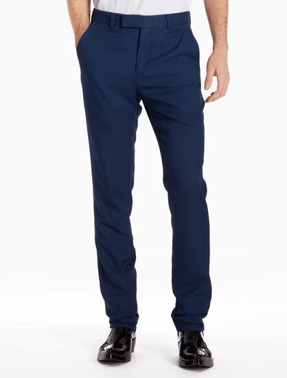 CALVIN KLEIN DEFINED POLY TWILL SUIT PANTS