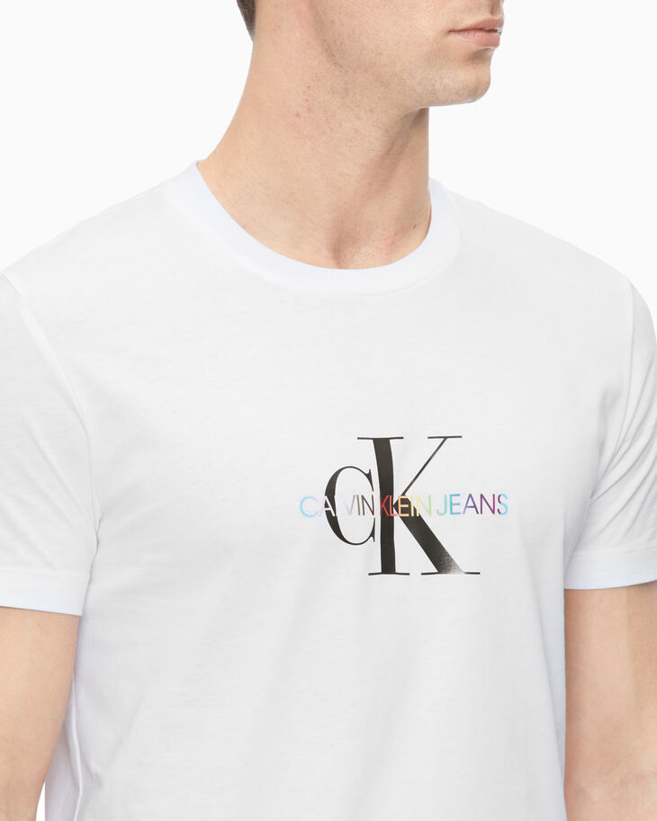 CALVIN KLEIN RAINBOW MONOGRAM SHORT SLEEVE TEE