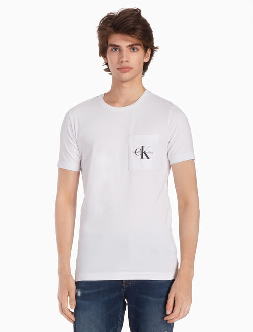 CALVIN KLEIN MONOGRAM 포켓 슬림 티셔츠