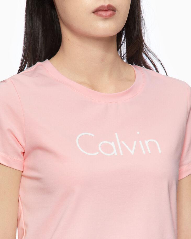CALVIN KLEIN GLITTER LOGO SLIM TEE