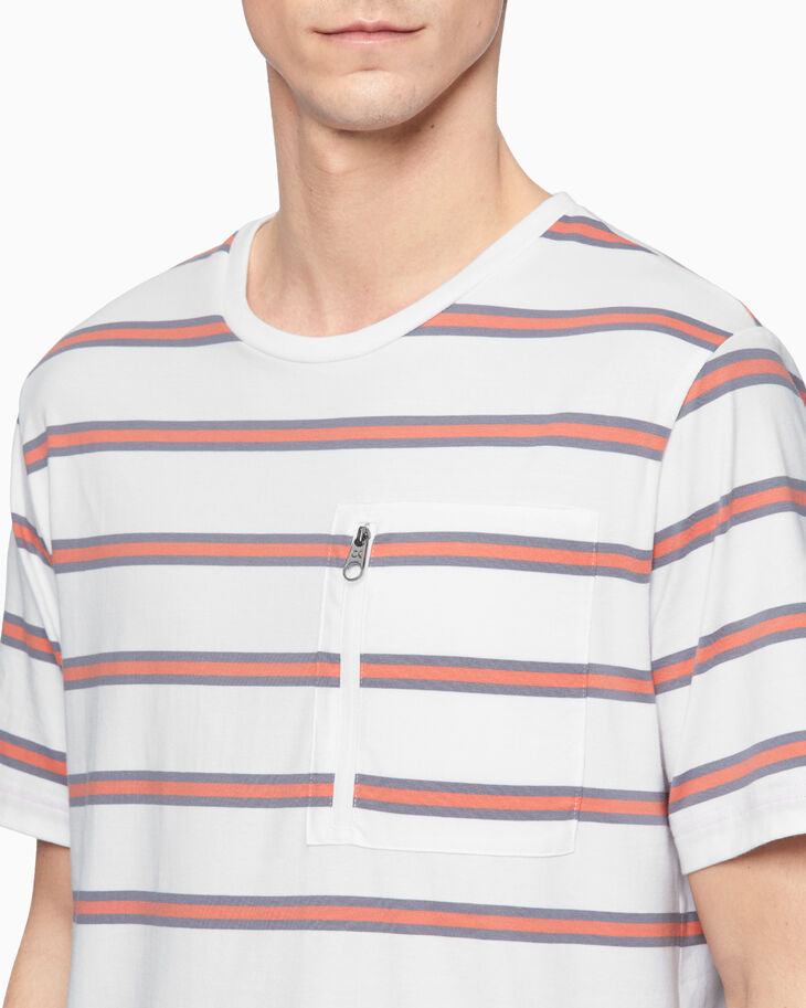 CALVIN KLEIN SUMMER WORKOUT STRIPED TEE