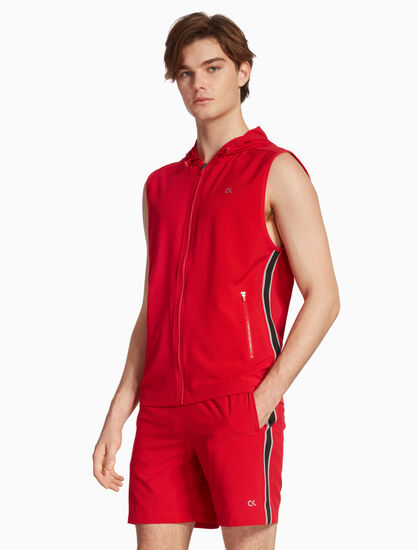 CALVIN KLEIN COOLCORE STRIPE HOODED VEST
