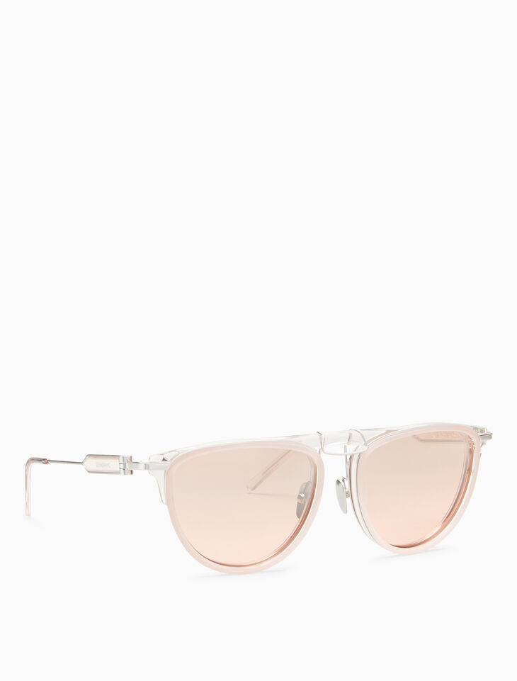 CALVIN KLEIN LAYERED ACETATE PILOT SUNGLASSES
