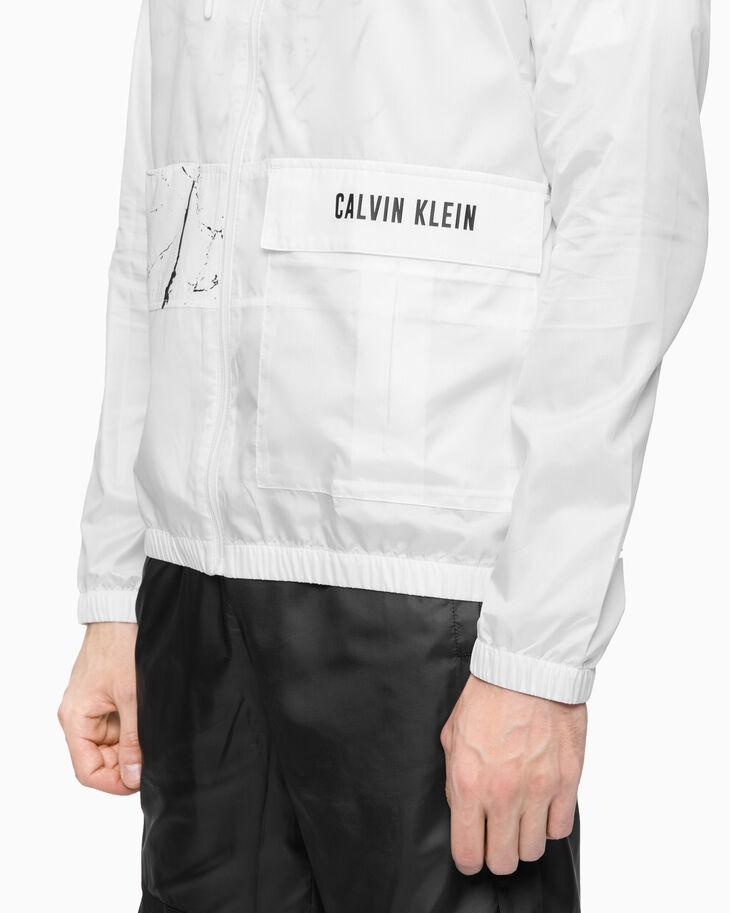 CALVIN KLEIN MARBLE PRINT 防風外套