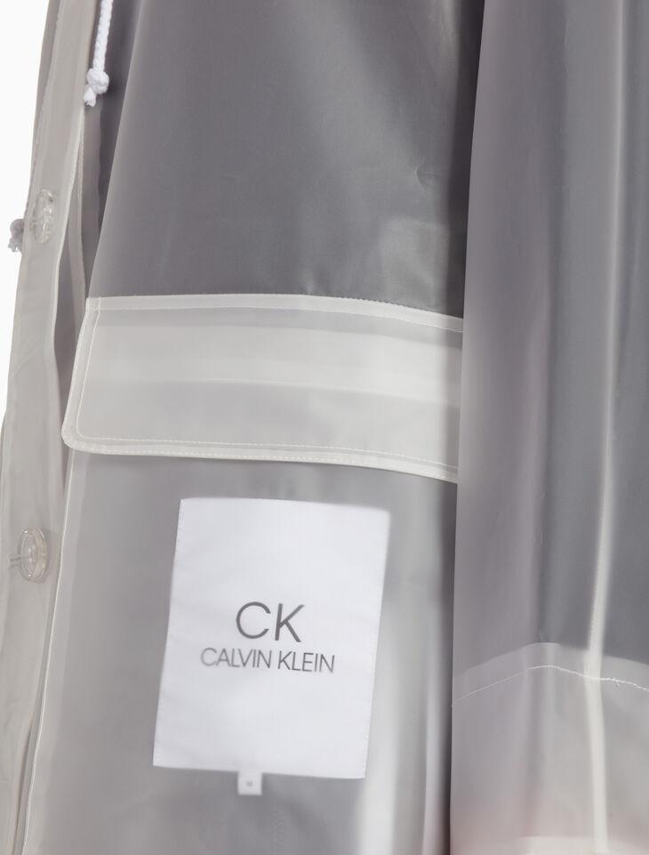 CALVIN KLEIN 플라스틱 후드 레인 재킷