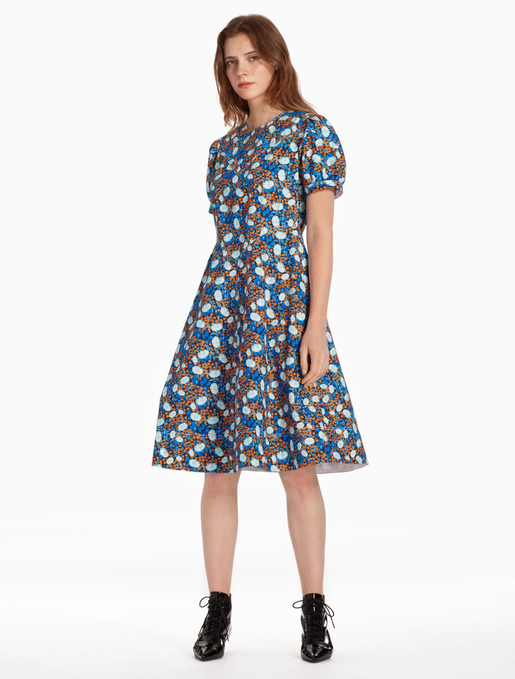 CALVIN KLEIN FLORAL PRINT ドレス