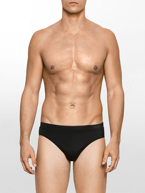 CALVIN KLEIN SOLID HIP BRIEFS