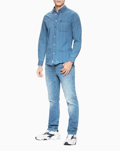 CALVIN KLEIN PINSTRIPE INDIGO 셔츠