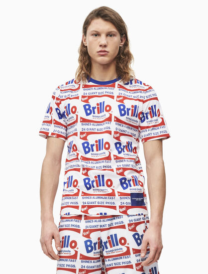 CALVIN KLEIN WARHOL BRILLO ALL OVER PRINT T シャツ