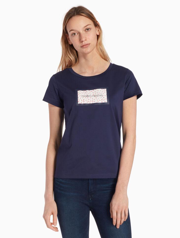 CALVIN KLEIN ORGANZA 로고 티셔츠