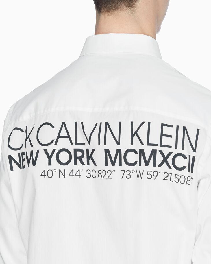 CALVIN KLEIN OVERSIZED POPLIN LOGO SHIRT